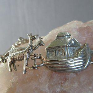 NOAH'S ARK Sterling Silver Link Bracelet